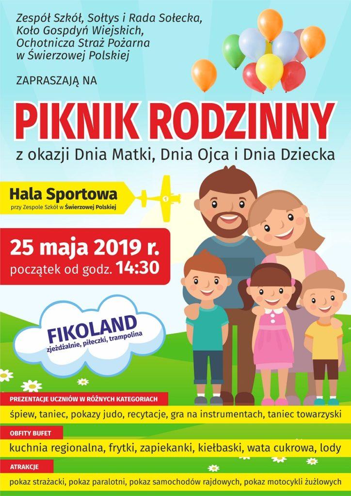 plakat piknik rodzinny